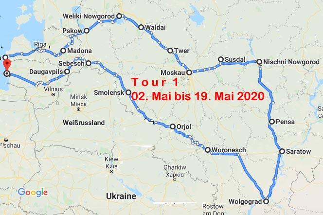 Plan der ersten Tour
