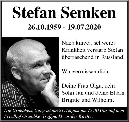 Stefans Todesanzeige
